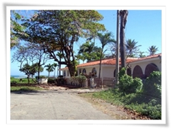 colonial style beachfront home for sale in Costambar
