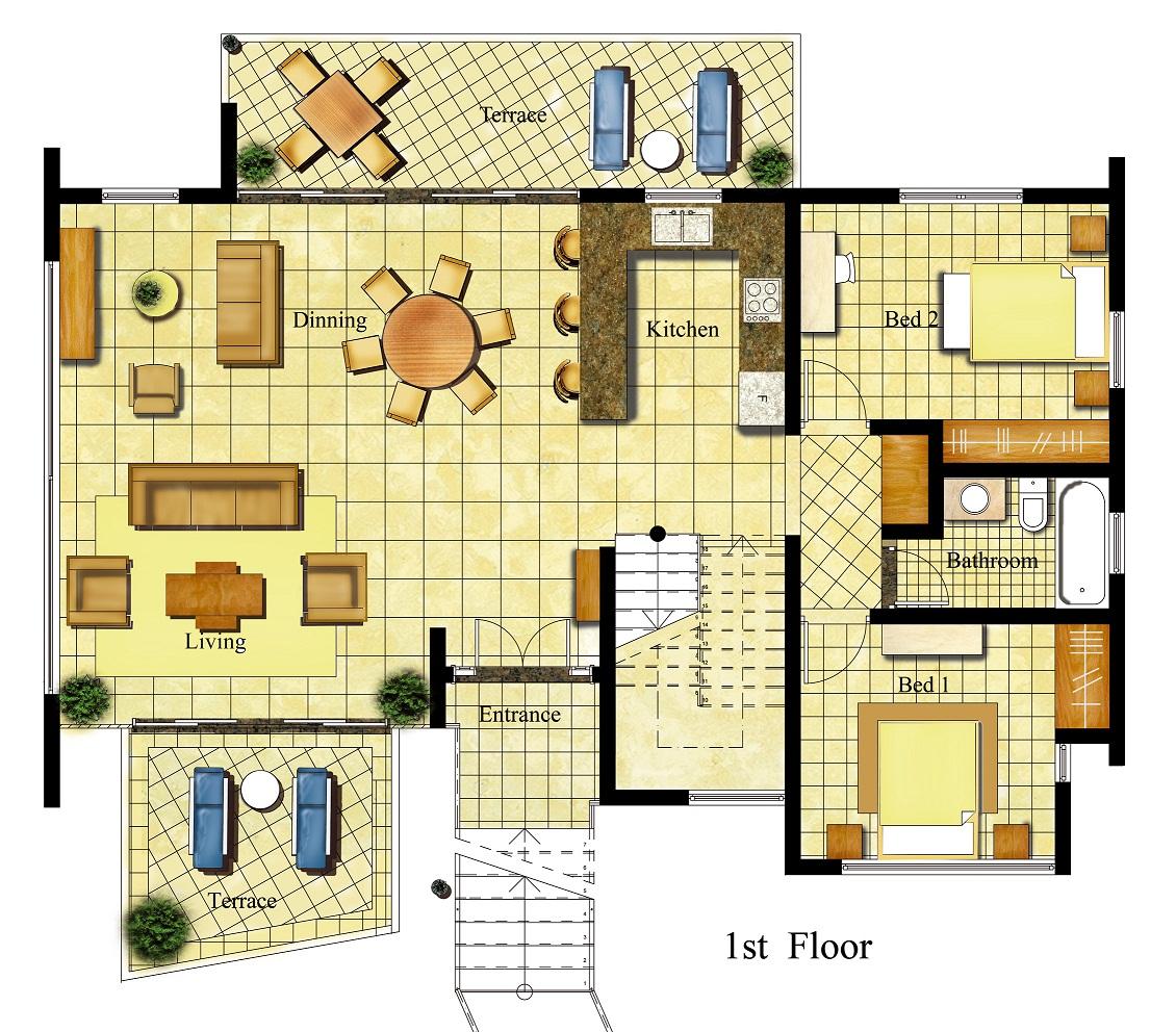 Grand California Hotel 3 Bedroom Floor Plan Joy Studio