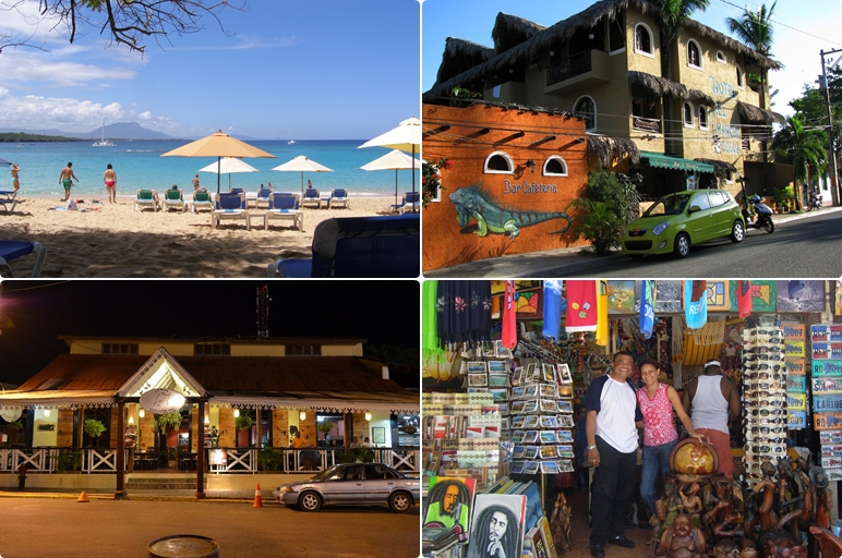 collage of pictures from Sosua, Dominican Republic