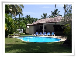 holiday villa rental with 3 bedrooms in Cabarete, at the world famous sea horse ranch