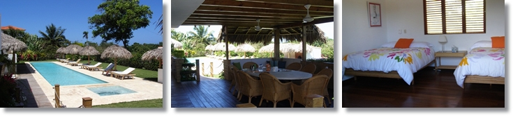brand new villa in encuentro beach close to Cabarete featuring 4 bedrooms and 4.5 bathrooms, 2 gazebos and a lap pool