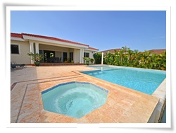 The 3 bedroom rental with inset jacuzzi is a new addition to the rental pool in Sosua