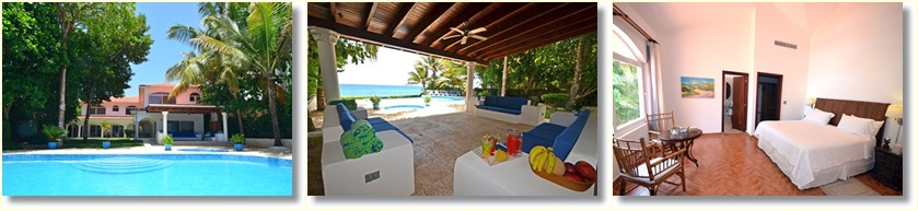 5 bedroom beach villa rental in Sosua - 5 mins away from Cabarete