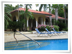 luxury villa rental in Sosua, gated community