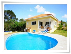 this 2 bedroom villa in Sosua has been added for couples and  small families traveling to EL Batey