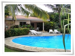 sosua villa rental with 2 bedrooms and a generously large swimming pool and private garden