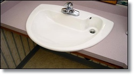 wheelchair friendly sink for the villas