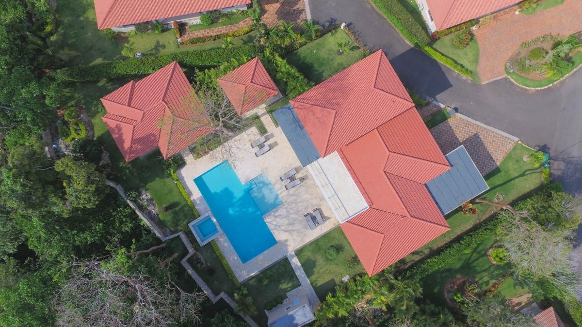 aerial view of the villa ultima
