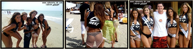 reef girls with the media