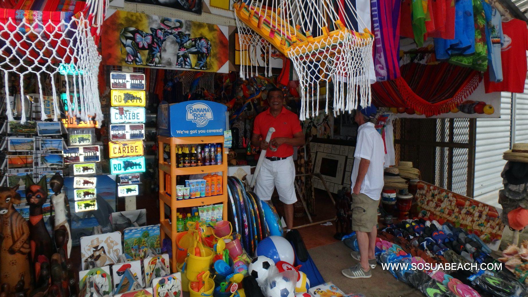 Sosua beach gift shop