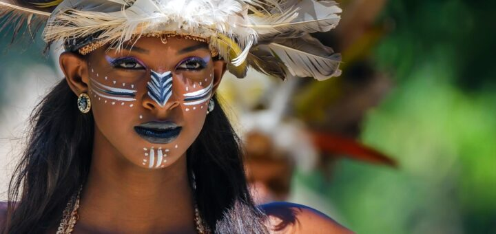 Beautiful Taino woman in DR