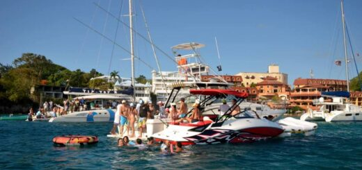 yacht party in Sosua Beach