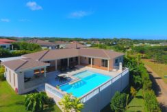 aerial view of the villa in sosua