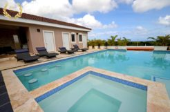 View of the villa Jacuzzi