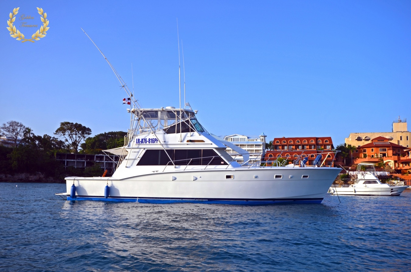 The Hatteras yacht mostly used for fishing in Sosua