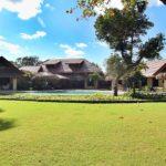the villa seen from the garden area