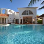 the villa seen from the pool area