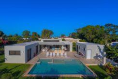 Drone view of the villa