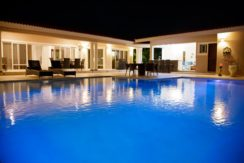 the bachelor party villa in Sosua seen at night