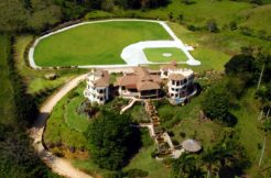 aerial view of the villa