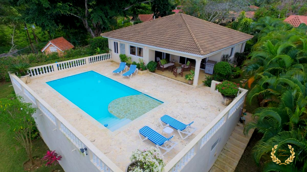 2 Bedroom Sosua Rental With Pool and Shallow Ledge