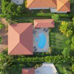 overhead drone shot