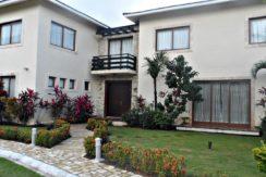 The villa facade is modern