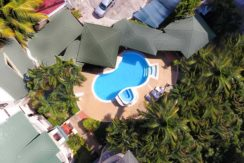 aerial view of the condos in Sosua