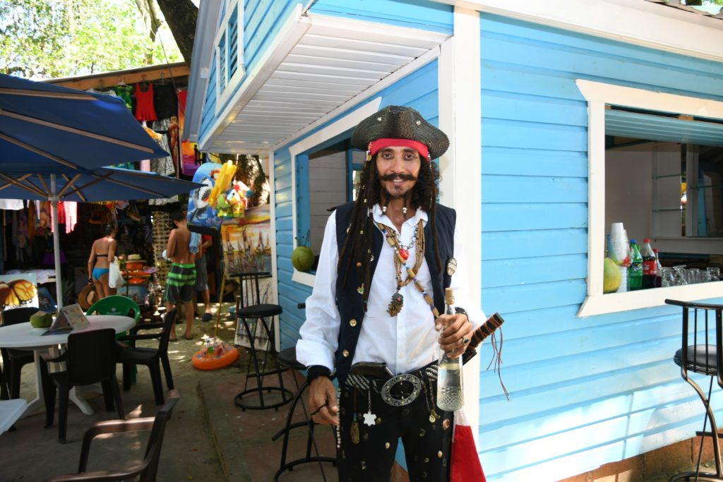Jack sparrow in Sosua Beach
