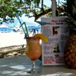 Pina colada and menu