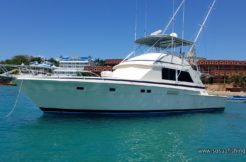 The 56 Bertram docked in Sosua