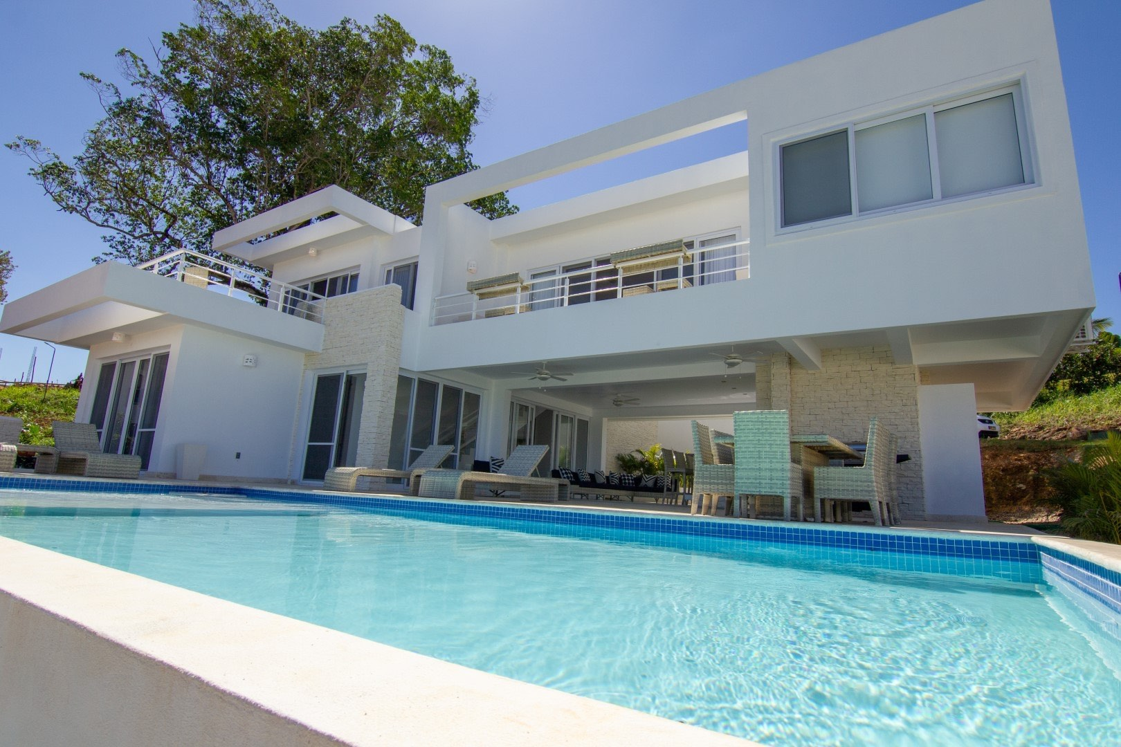 4 bedroom sosua modern villa zen house rental 1585