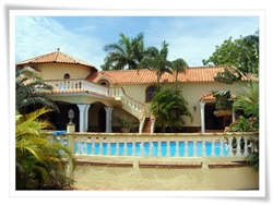 classic mediterranean villa with 3 bedrooms, for rent in Cabarete