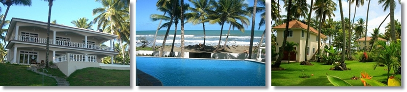 beach front suites and a big guest house with private kitchen are the main attraction of this villa for rent.