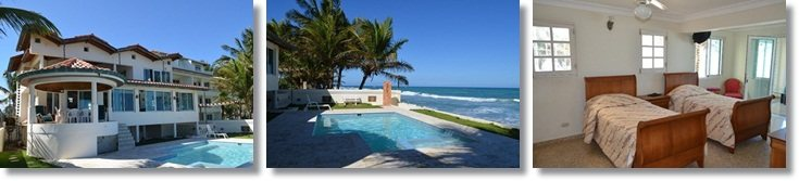 the ultimate beach villa in Cabarete, 5 bedrooms facing the beach