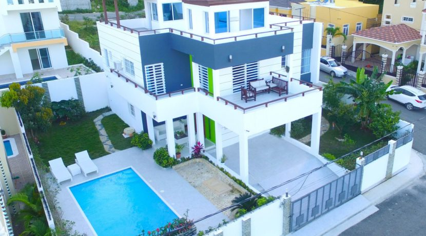 aerial view of the house in Puerto Plata