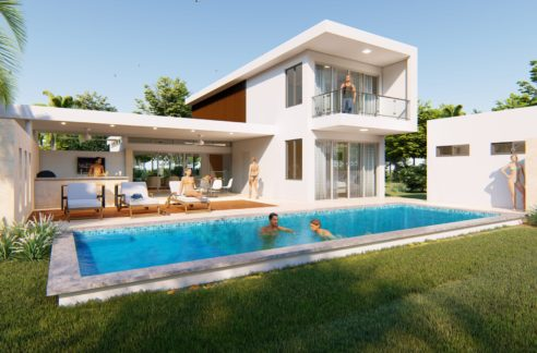 the villa in Sosua with the modern design