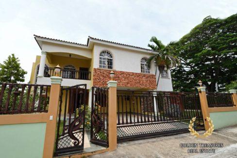 the house facade